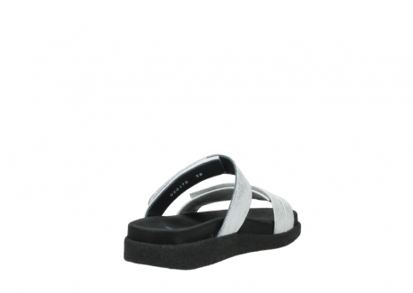 wolky mules 00501 cirrus 70120 cuir blanc casse argent_9