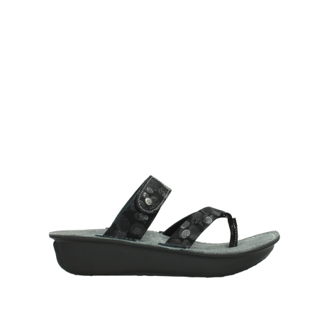 wolky slippers 00877 martinique 12000 zwart nubuck