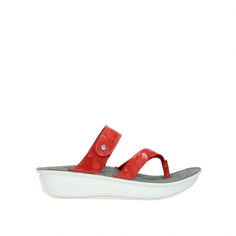 wolky slippers 00877 martinique 12500 rood nubuck