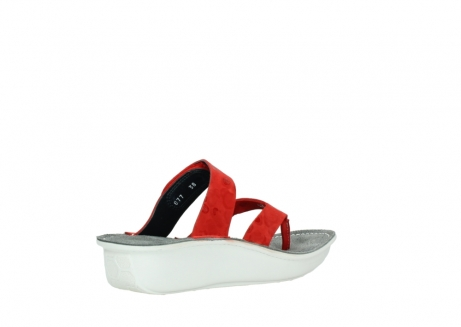 wolky slippers 00877 martinique 12500 rood nubuck_10