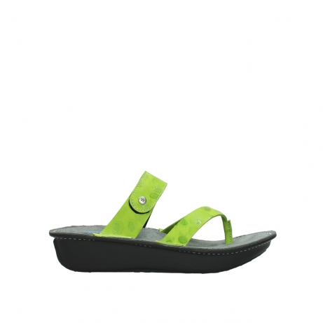 wolky slippers 00877 martinique 12750 lime nubuck