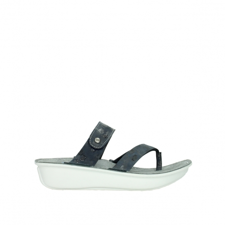 wolky slippers 00877 martinique 12800 blauw nubuck