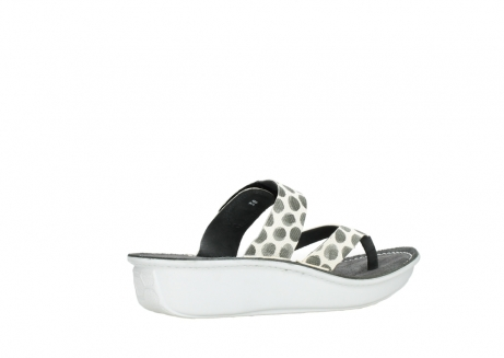wolky slippers 00877 martinique 95210 white anthracite spots leather_11