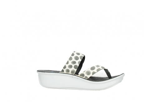 wolky slippers 00877 martinique 95210 white anthracite spots leather_14