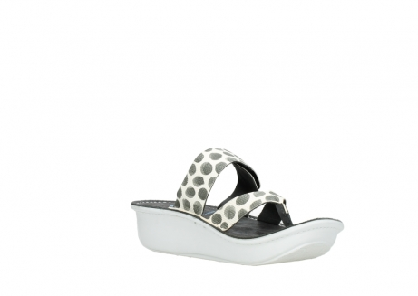 wolky slippers 00877 martinique 95210 white anthracite spots leather_16