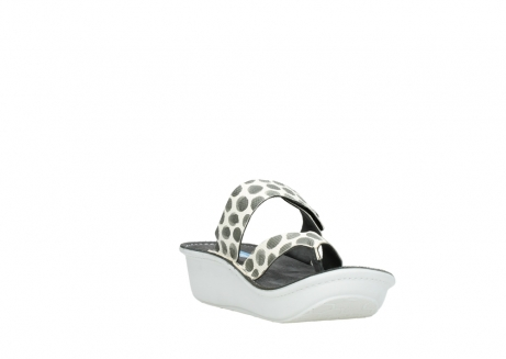 wolky slippers 00877 martinique 95210 white anthracite spots leather_17