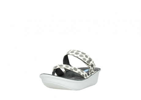 wolky slippers 00877 martinique 95210 white anthracite spots leather_21