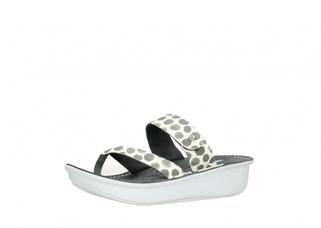 wolky slippers 00877 martinique 95210 white anthracite spots leather_23