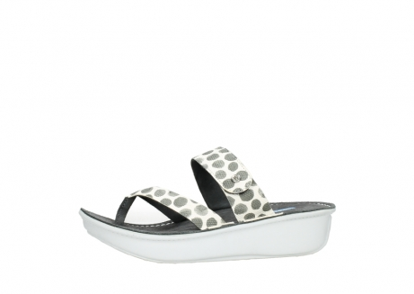 wolky slippers 00877 martinique 95210 white anthracite spots leather_24