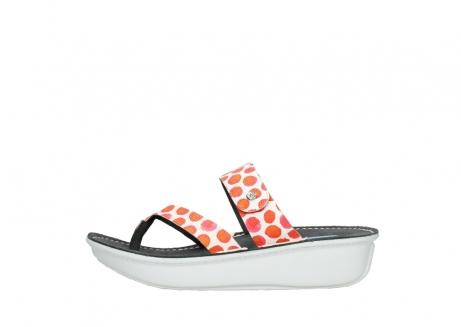 wolky slippers 00877 martinique 95500 white red spots leather_1