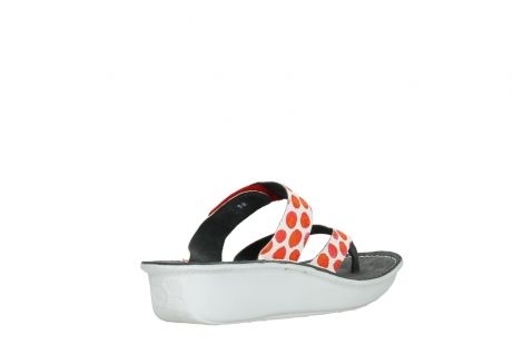 wolky slippers 00877 martinique 95500 white red spots leather_10