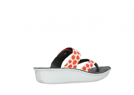 wolky slippers 00877 martinique 95500 white red spots leather_11