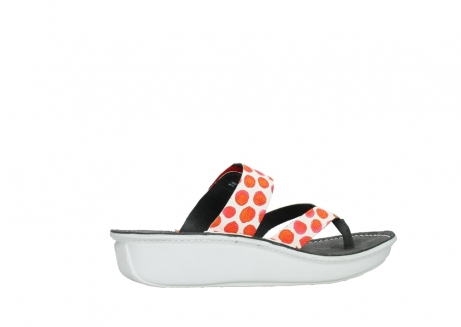 wolky slippers 00877 martinique 95500 white red spots leather_12
