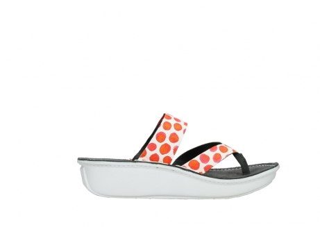 wolky slippers 00877 martinique 95500 white red spots leather_13