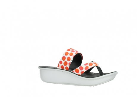 wolky slippers 00877 martinique 95500 white red spots leather_15