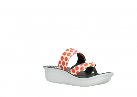 wolky slippers 00877 martinique 95500 white red spots leather_16