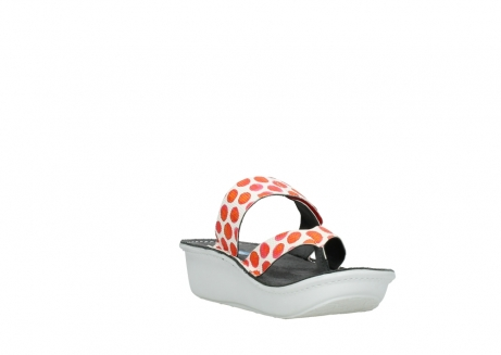 wolky slippers 00877 martinique 95500 white red spots leather_17