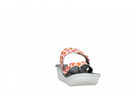 wolky slippers 00877 martinique 95500 white red spots leather_18