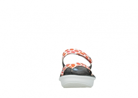 wolky slippers 00877 martinique 95500 white red spots leather_19