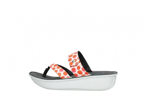 wolky slippers 00877 martinique 95500 white red spots leather_2