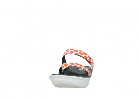 wolky slippers 00877 martinique 95500 white red spots leather_20