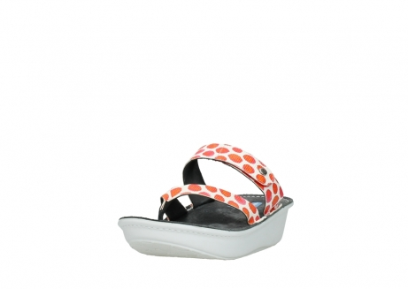 wolky slippers 00877 martinique 95500 white red spots leather_21