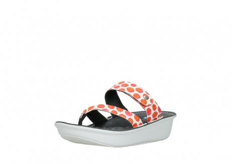 wolky slippers 00877 martinique 95500 white red spots leather_22