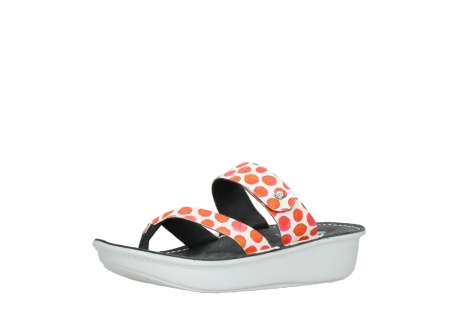 wolky slippers 00877 martinique 95500 white red spots leather_23