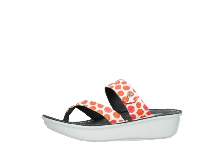 wolky slippers 00877 martinique 95500 white red spots leather_24