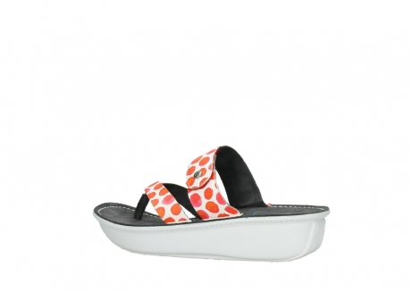 wolky slippers 00877 martinique 95500 white red spots leather_3