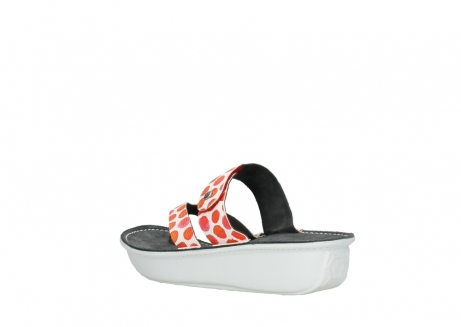 wolky slippers 00877 martinique 95500 white red spots leather_4