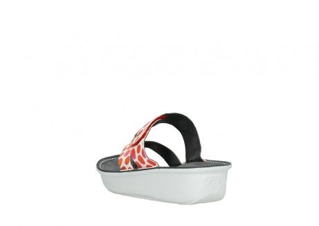 wolky slippers 00877 martinique 95500 white red spots leather_5