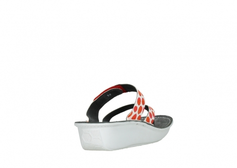 wolky slippers 00877 martinique 95500 white red spots leather_9