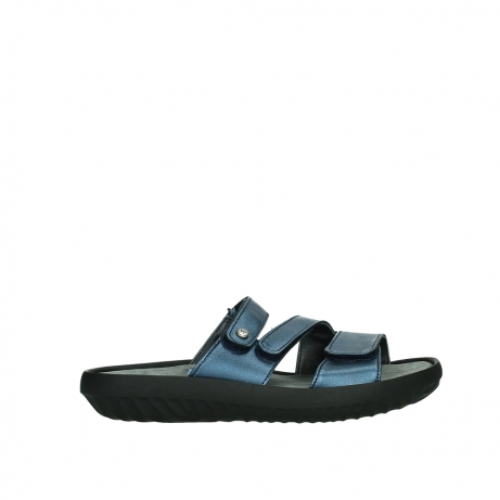 wolky slippers 00885 sense 85800 blue leather