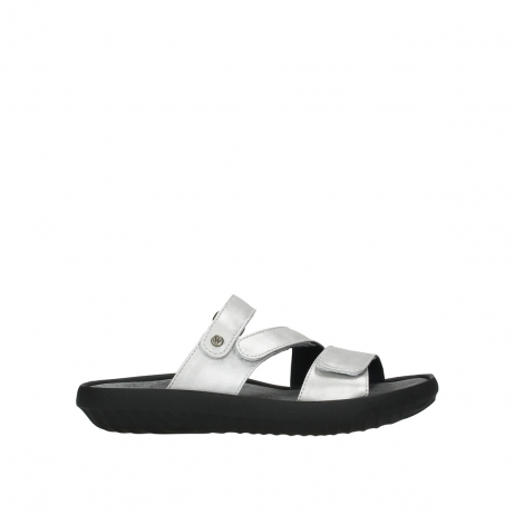 wolky slippers 00885 sense 85130 silver leather
