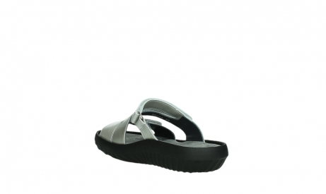 wolky slippers 00885 sense 85130 silver leather_17