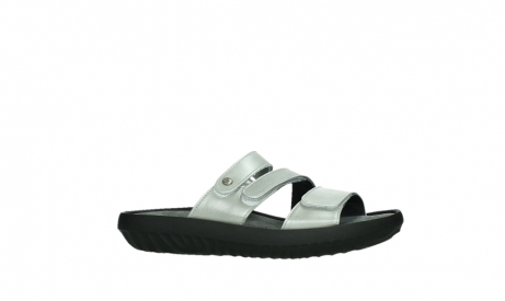 wolky slippers 00885 sense 85130 silver leather_2