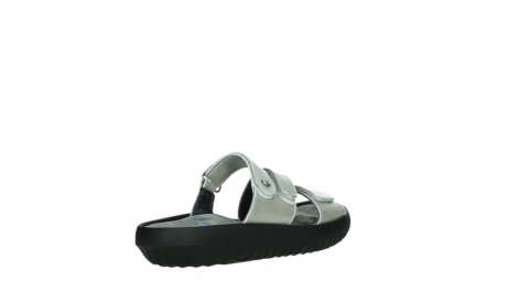 wolky slippers 00885 sense 85130 silver leather_22