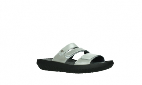 wolky slippers 00885 sense 85130 silver leather_3