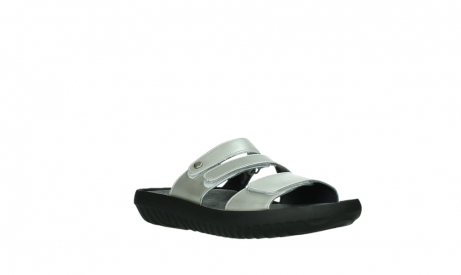 wolky slippers 00885 sense 85130 silver leather_4