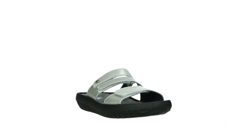 wolky slippers 00885 sense 85130 silver leather_5