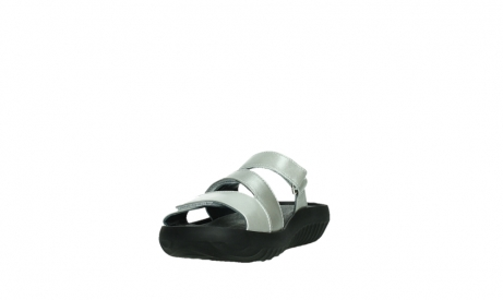 wolky slippers 00885 sense 85130 silver leather_9