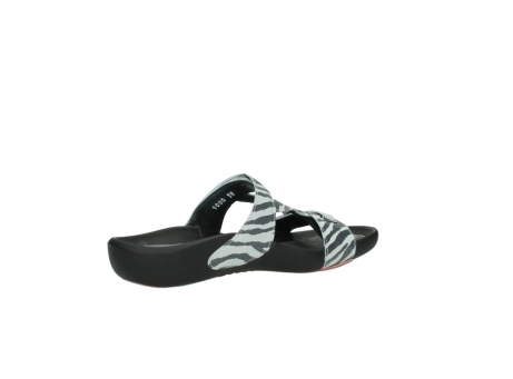 wolky slippers 01000 oconnor 90120 zebraprint metallic leer_11