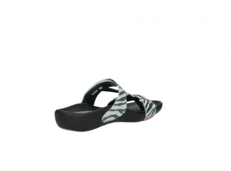 wolky slippers 01010 kukana 90120 zebraprint metallic leer_10