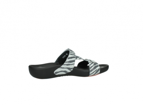 wolky slippers 01010 kukana 90120 zebraprint metallic leer_12