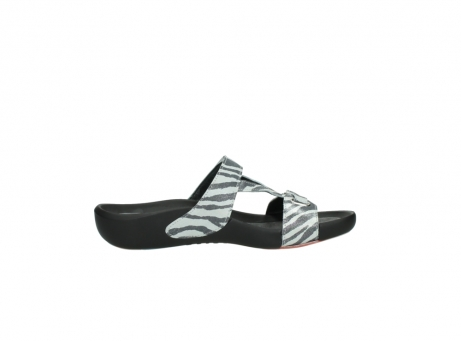 wolky slippers 01010 kukana 90120 zebraprint metallic leer_13