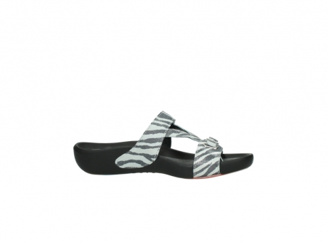 wolky slippers 01010 kukana 90120 zebraprint metallic leer_14