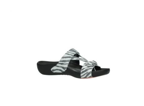 wolky slippers 01010 kukana 90120 zebraprint metallic leer_15