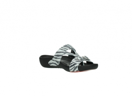 wolky slippers 01010 kukana 90120 zebraprint metallic leer_16