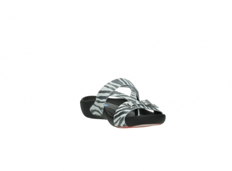 wolky slippers 01010 kukana 90120 zebraprint metallic leer_17